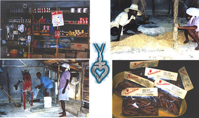 Community store, corn meal mill, dried mangoes/Foucauldine cookies